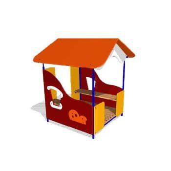 Беседка домик для детской площадки Гном СКИ 052