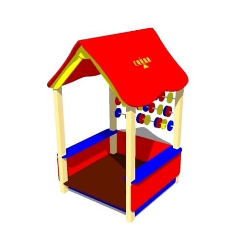 Беседка домик для детской площадки Счеты СКИ 065