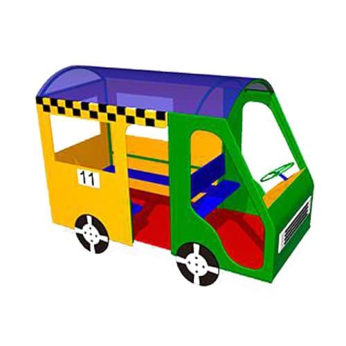 Машинка беседка для детской площадки Автобус СКИ 064