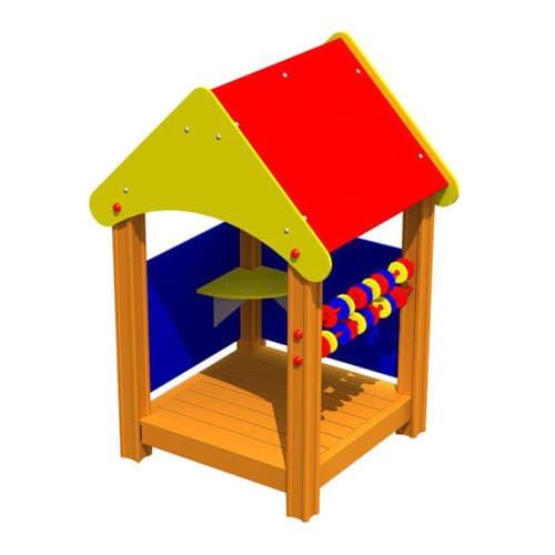 Беседка домик для детской площадки Счеты-2 СКИ 126