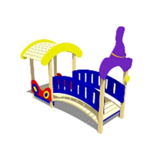 Беседка домик для детской площадки Мостик-переход М1 СКИ 056