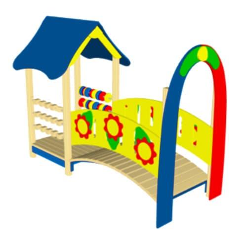 Беседка домик для детской площадки Мостик-переход М2 СКИ 057