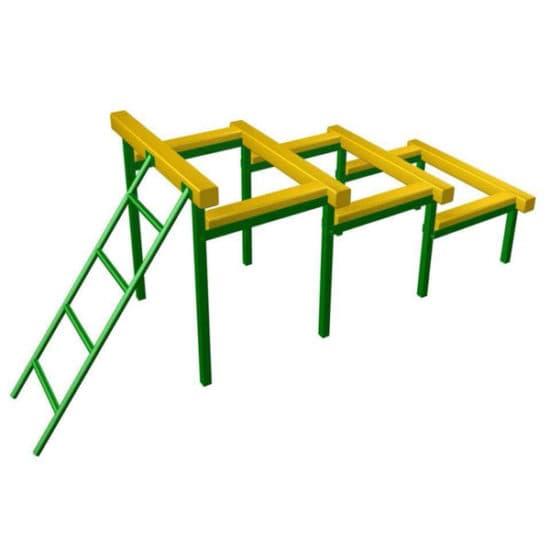 Разрушенная лестница для полосы препятствий СКП 097-З