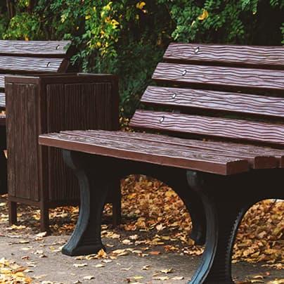 Скамейки и урны из композитных материалов