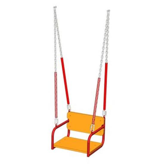 Сиденье для качелей со спинкой и цепями СКИ 245