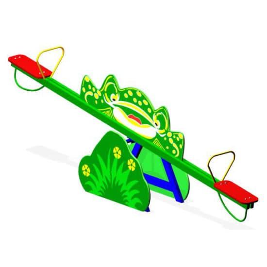 Качели балансир для детской площадки Лягушка ЗНКЧ 002