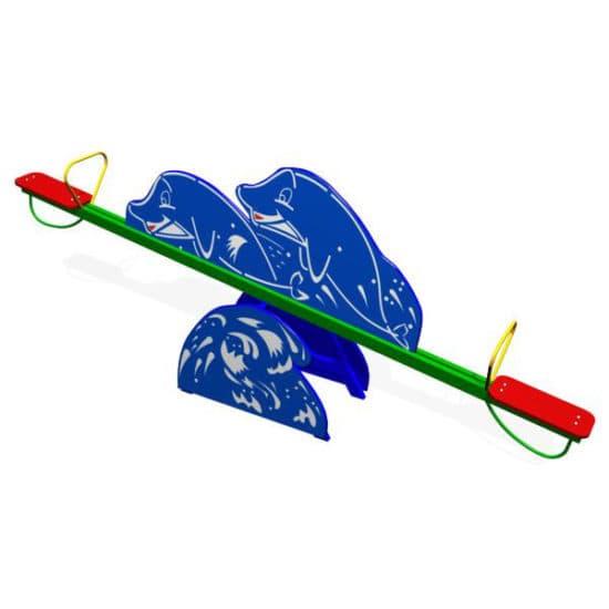 Качели балансир для детской площадки Дельфины ЗНКЧ 004