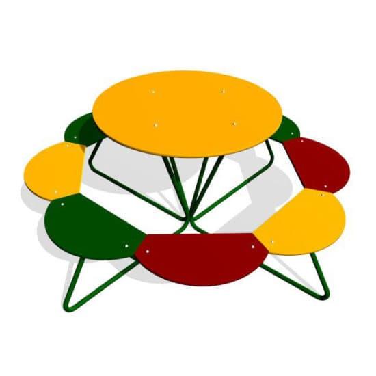 Детский стол со скамейками Солнышко ЗНСП 015