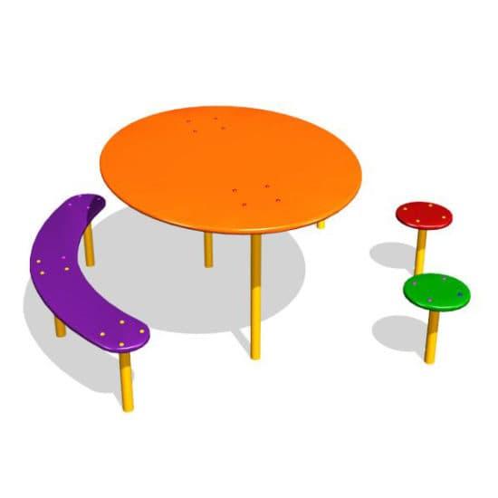 Детский стол со скамейками Радость ЗНСП 056