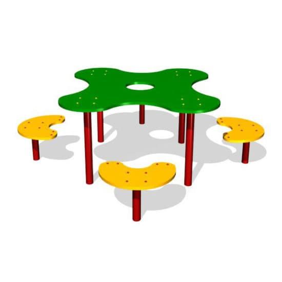 Стол для детской площадки Клякса ЗНСП 073