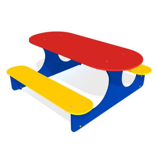 Детский стол со скамейками Овальный ЗНСП 209