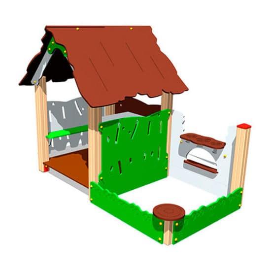 Игровой макет Хижина с песочницей ЗНИМ113