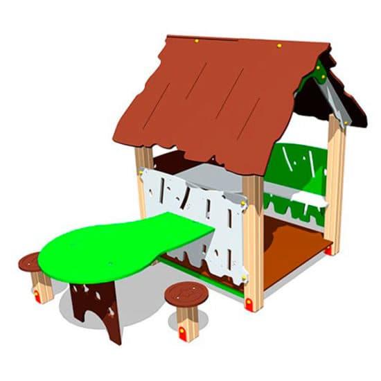 Беседка для детской площадки Хижина со столиком ЗНИМ 114