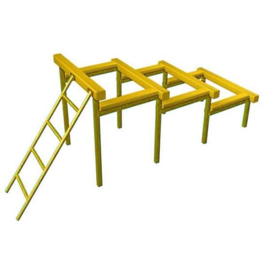 Разрушенная лестница для полосы препятствий. Желтый. СКП 097-Ж