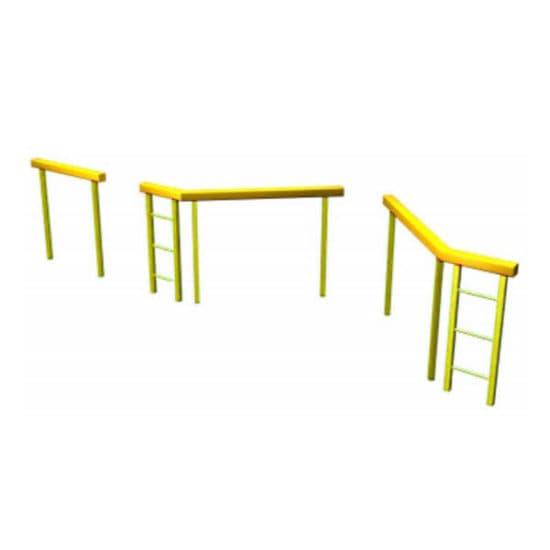 Разрушенный мост для полосы препятствий. Желтый. СКП 095-Ж